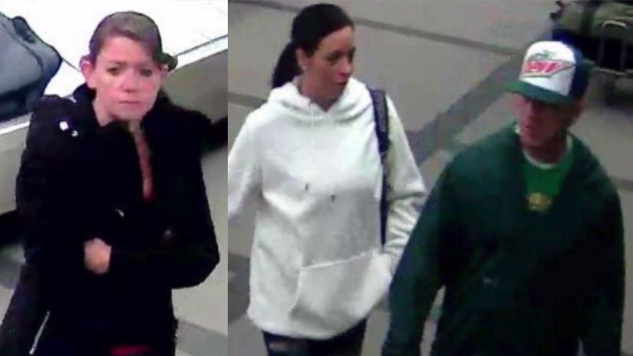 Metro Denver Crime Stoppers is asking for your help identifying three people wanted for felony theft, including theft of luggage fro DIA. If you recognize the people in the photos, call (720) 913-7867.