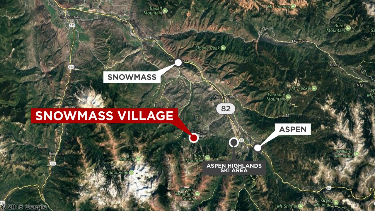 Map showing Snowmass Village, Colo.