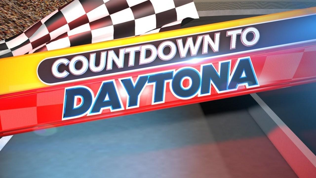 Fahrer zu Gesicht, die hellen Lichter, lustige Fragen an das Daytona 500-Media-Tag