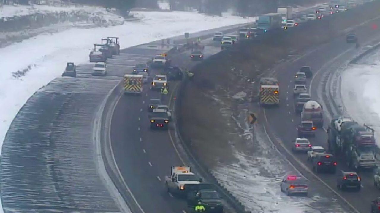 Northbound I-25 öffnet im südlichen Douglas County nach der Stilllegung wegen tödlichen Absturz