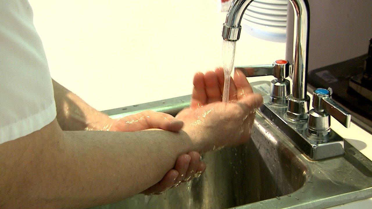Maria hand washing