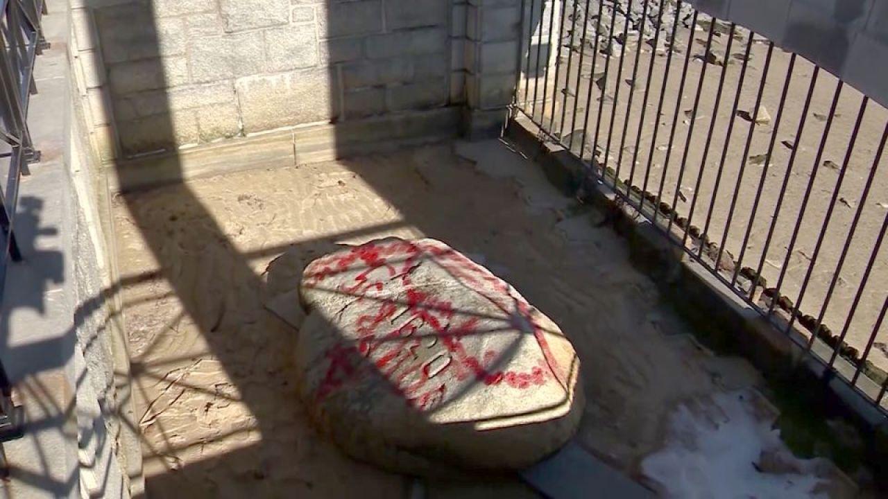 Βάνδαλοι καταστρέψουν την εικονική Plymouth Rock