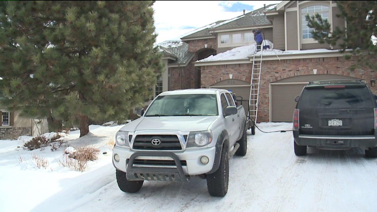 Vorbeugende Maßnahmen zur Vermeidung von Schnee -, Eis-Schäden an Haus
