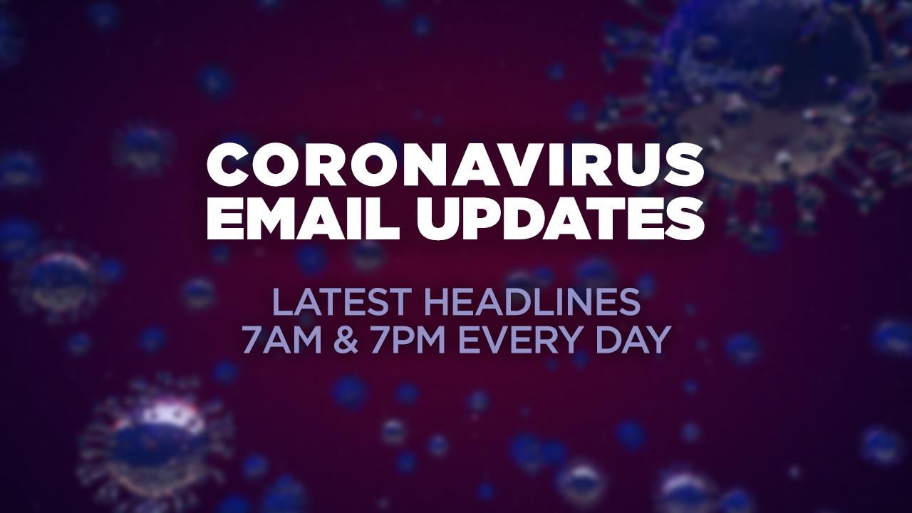 Coronavirus E-Mail-updates: Melden Sie sich an, um die neuesten Schlagzeilen an Ihren Posteingang gesendet
