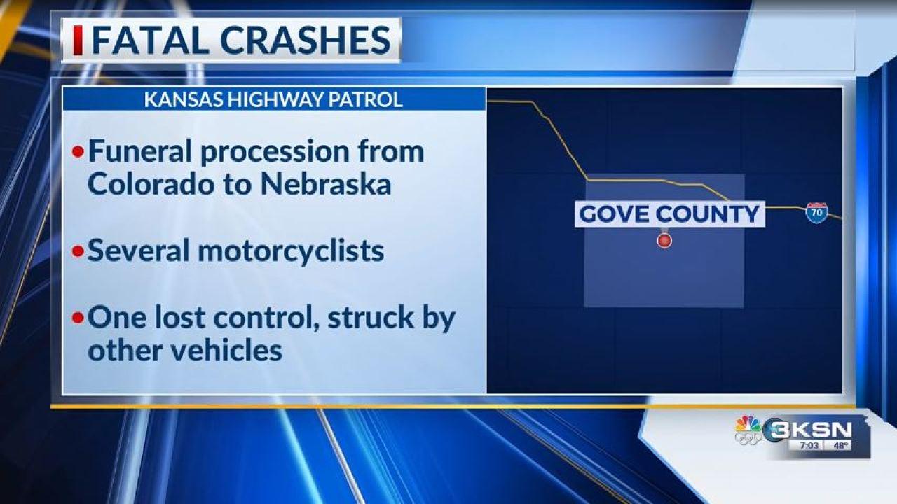 Dua orang tewas dalam terpisah crash sebagai Stratton prosesi pindah melalui Gove County