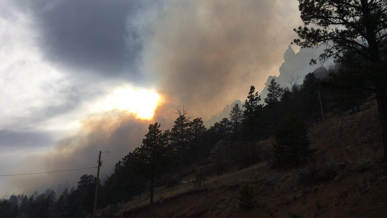 Evakuierung erteilten Aufträge aufgrund von Waldbränden in Jefferson County