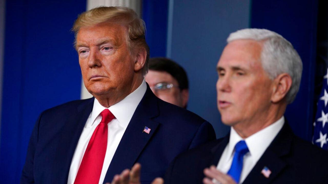 White House coronavirus-task-force hält am Samstag briefing
