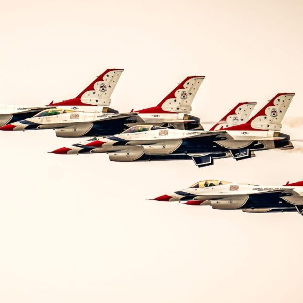 The U.S. Air Force Thunderbirds over Windsor, Colo. on April 18, 2020.