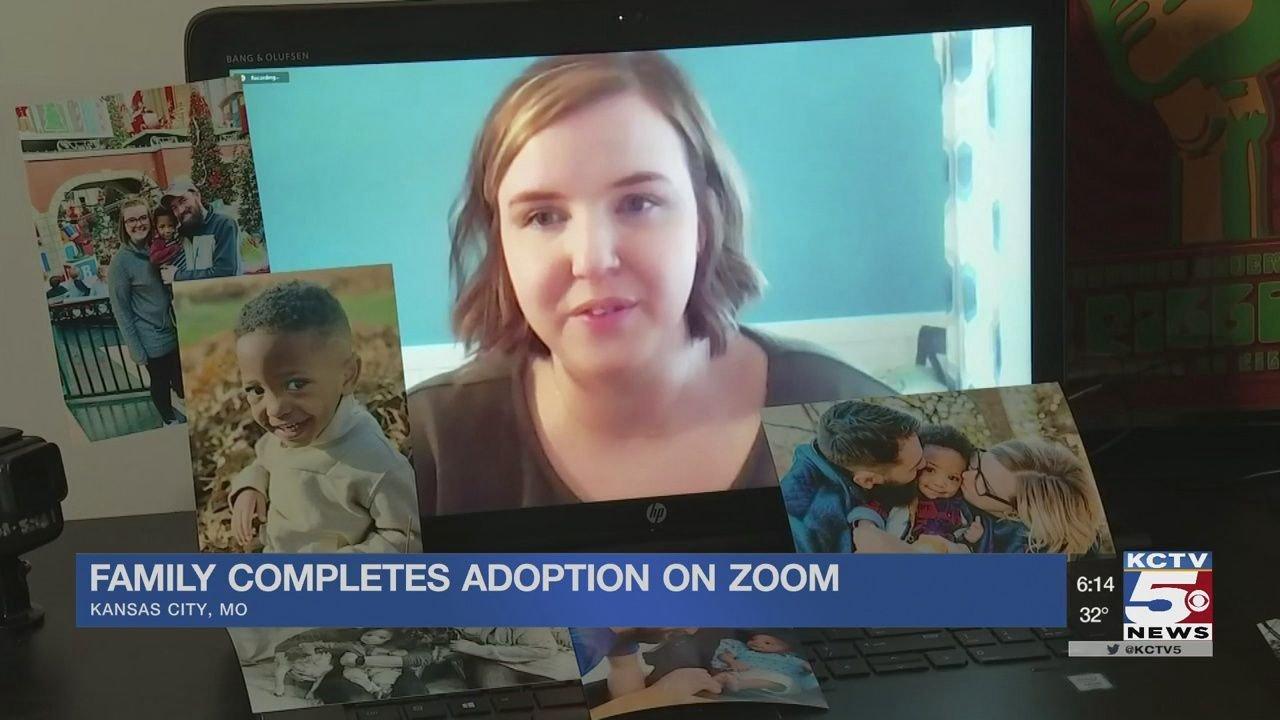 Kansas City Familie offiziell verabschiedet Kind über Zoom-Aufruf mit Richter