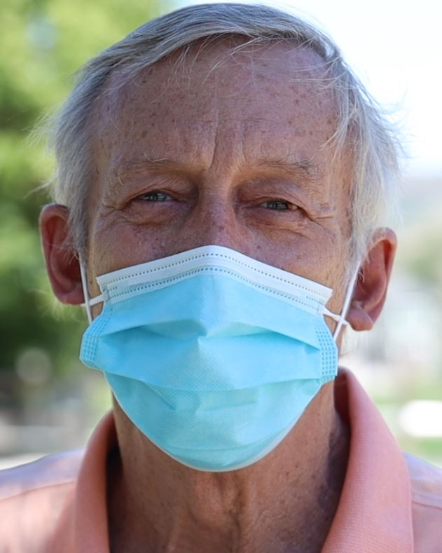 Mike Clark, who barely survived a battle with COVID-19, talks about why he says it's important to wear a mask or face covering.