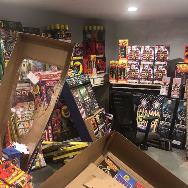 Fireworks confiscated by Denver Police