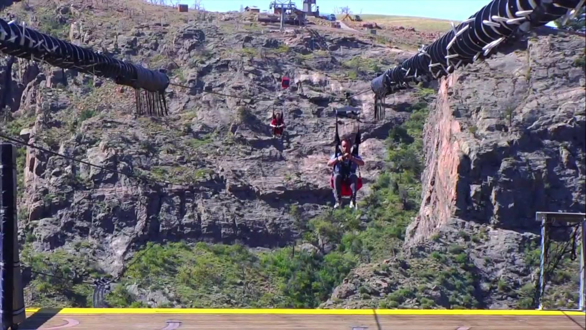The Royal Gorge zip line