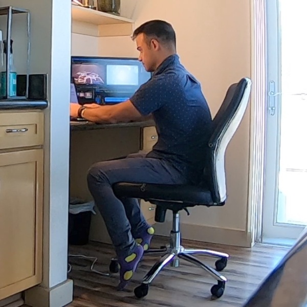 Reporter Kevin Torres working from home in Denver