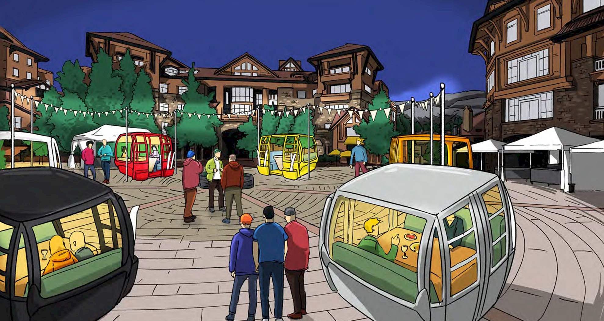 Mountain Village and TMVOA partnering on winter plaza dining enhancement