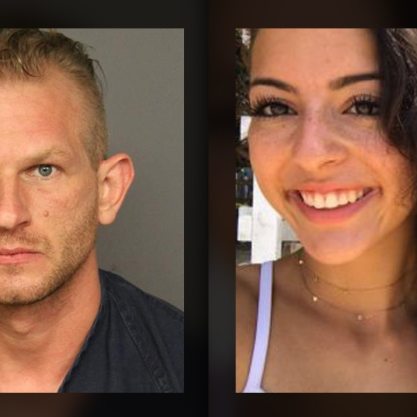 Michael Close (l) is accused of shooting and killing Isabella Thallus (r).