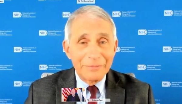 Dr. Anthony Fauci during a remote news conference with Colorado Gov. Jared Polis on Dec 1, 2020.