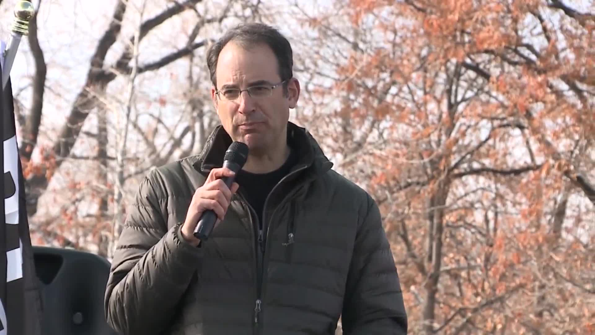 "Colorado AG Phil Weiser speaks at ""Remove Trump Now"" rally"