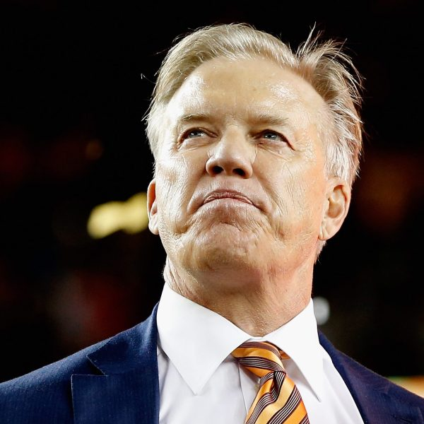 General Manager John Elway of the Denver Broncos looks on after their win over the Carolina Panthers during Super Bowl 50 at Levi's Stadium on February 7, 2016 in Santa Clara, California.