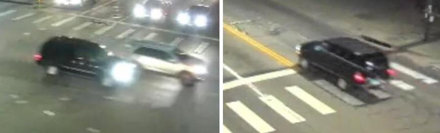 The SUV allegedly involved in a hit-and-run at Federal and Arkansas on Jan. 15, 2021. Credit: DPD/Metro Denver Crime Stoppers