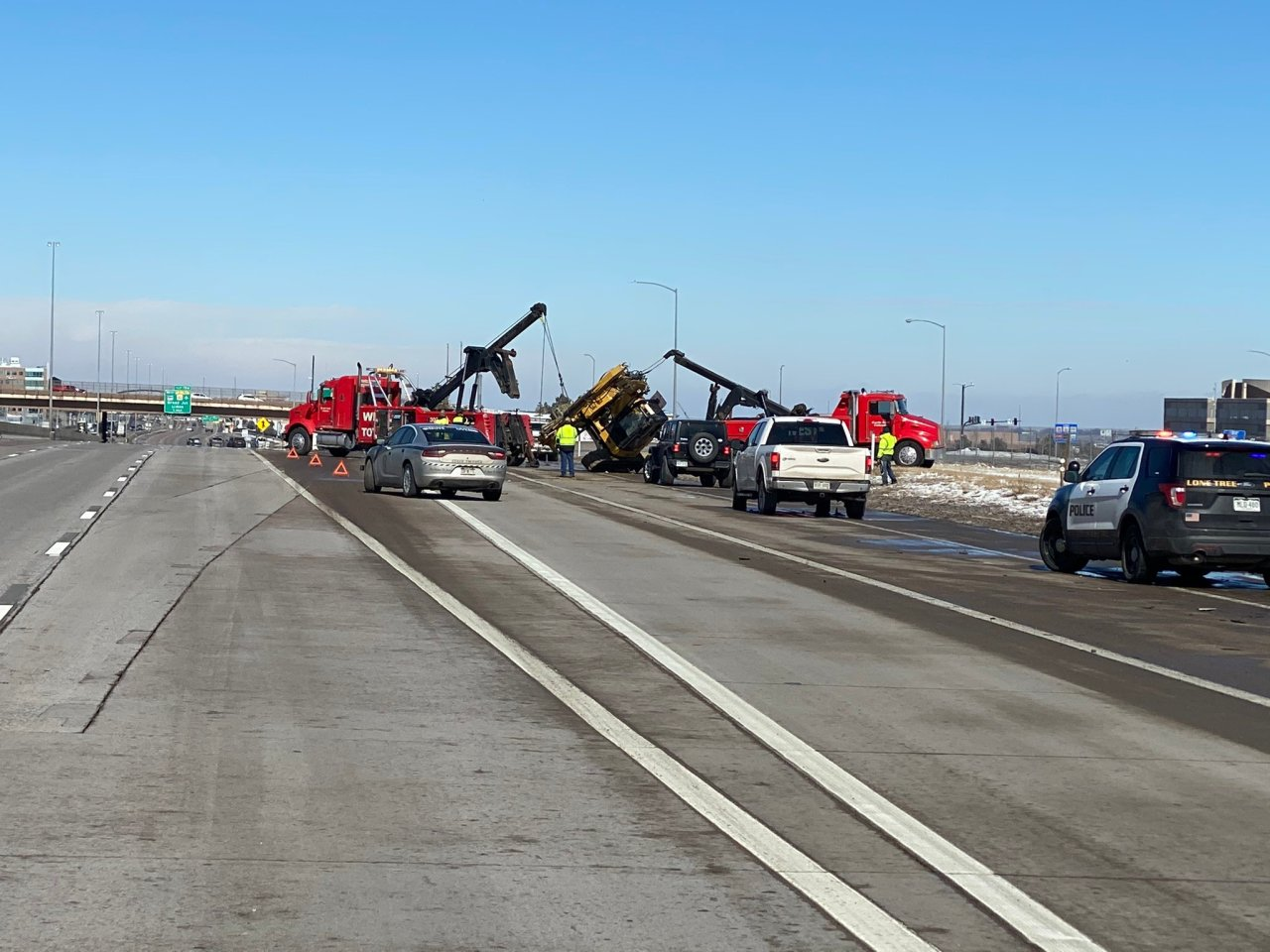 CDOT reopens NB I-25 after emergency bridge repair at Sky Ridge Avenue - FOX 31 Denver