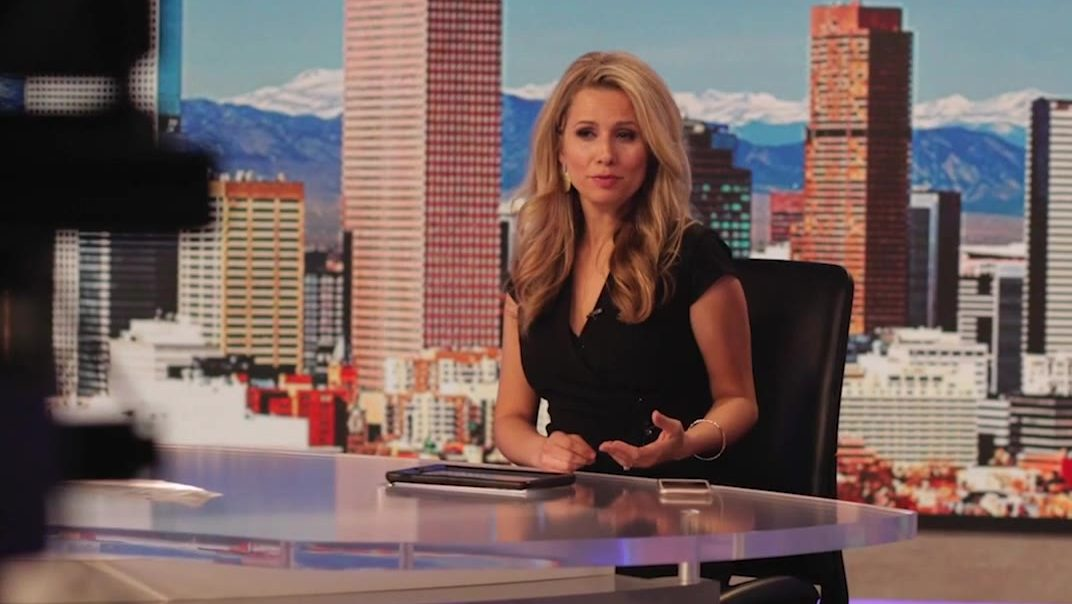 Aristea Brady at the FOX31 anchor desk