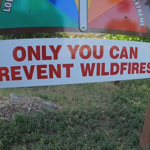 """Sign that says """"ONLY YOU CAN PREVENT WILDFIRES"""""""