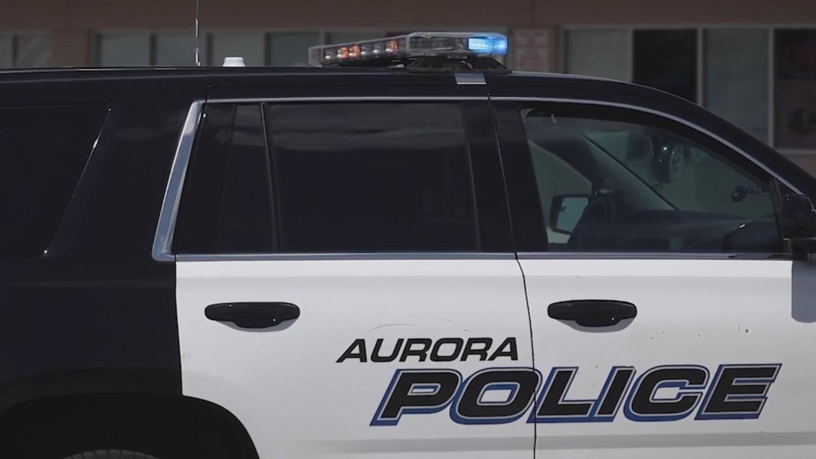 An Aurora Police Department SUV.